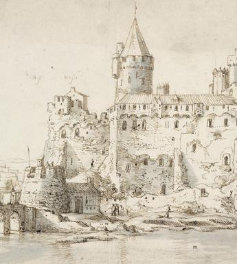 Drawing of Athlone Castle