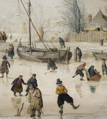 Hendrick Avercamp (1585-1634), 'Scene on the Ice' - detail.