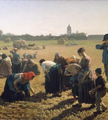 Oil painting of Gleaners