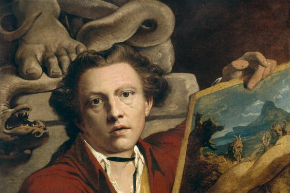 Oil painting self-portrait by James Barry