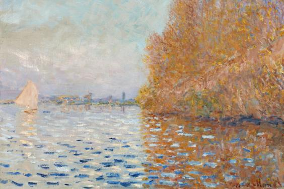 Claude Monet (1840-1926), 'Argenteuil Basin with a Single Sailboat', 1874. © National Gallery of Ireland.