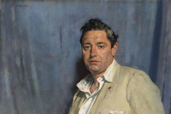 William Orpen (1878-1931), 'Portrait of John Count McCormack (1884-1945), Tenor', 1923. © National Gallery of Ireland.
