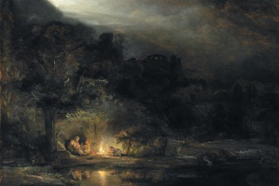 Rembrandt van Rijn (1606-1669), 'Landscape with the Rest on the Flight into Egypt', 1647. © National Gallery of Ireland.