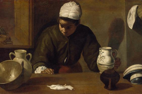 Diego Velázquez (1599-1660), 'Kitchen Maid with the Supper at Emmaus', c.1617-1618. © National Gallery of Ireland.