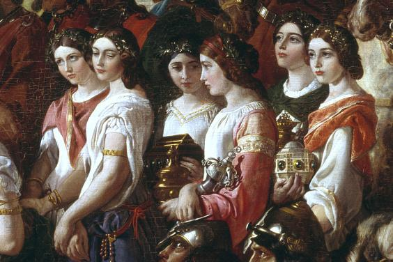 Daniel Maclise (1806-1870), detail from 'The Marriage of Strongbow and Aoife', c.1854. © National Gallery of Ireland.