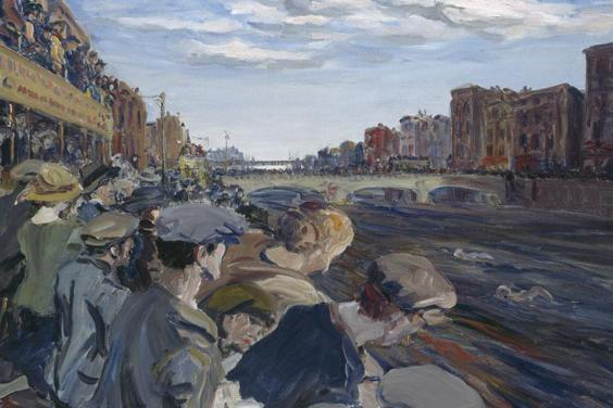 Jack B. Yeats (1871-1957), 'The Liffey Swim', 1923. © National Gallery of Ireland.