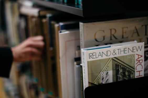 Books in the library of the Centre for Study of Irish Art. © National Gallery of Ireland