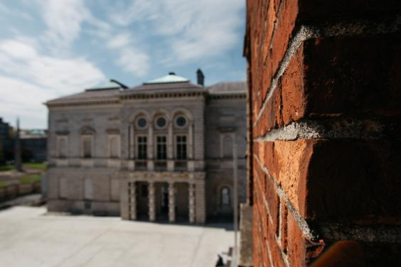 Brickwork details as seen from the offices. © National Gallery of Ireland.