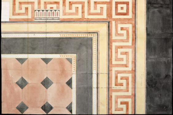Francis Fowke (1823-1865), 'Full size detail of the National Gallery tile paving', 1861. © National Gallery of Ireland