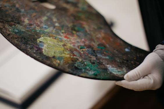 Paint palette from the archives in the Centre for the Study of Irish Art. © National Gallery of Ireland.