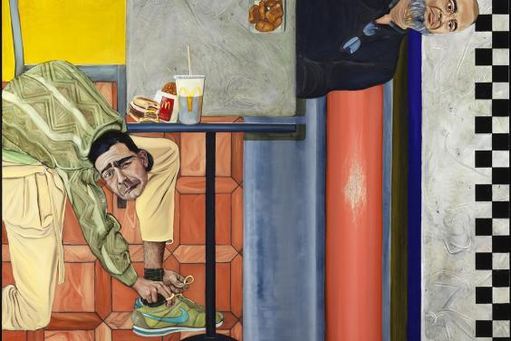 Salvatore Fullam (b. 1994), Me and my Dad in McDonalds, 2018. © Salvatore Fullam. Photo © National Gallery of Ireland.