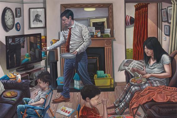 Connor Maguire (b. 1977), Portrait of a Modern Family, 2018. © Connor Maguire. Photo © National Gallery of Ireland.