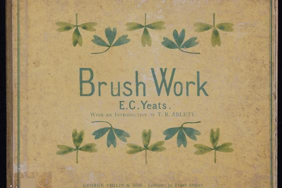 Cover of a book titled Brush Work by E.C. Yeats