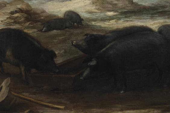 Iberian pigs feature in Murillo's painting of the Prodigal Son Feeding Swine