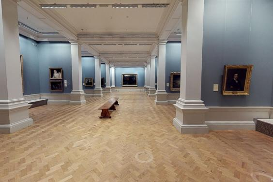 Screenshot from virtual tour of the Gallery