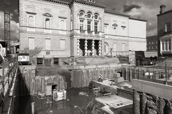 Photo of excavation in front of the Gallery
