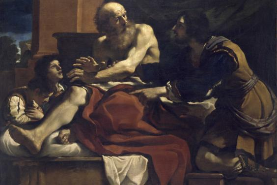 Guercino, Jacob Blessing the Sons of Joseph, c.1620