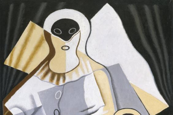 Painting of a pierrot by Juan Gris