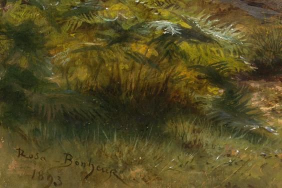 Rosa Bonheur's signature on her painting
