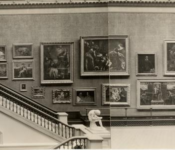 View of the Grand Gallery, 1930s. © National Gallery of Ireland