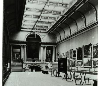 Historical Photograph of the Grand Gallery, National Gallery of Ireland
