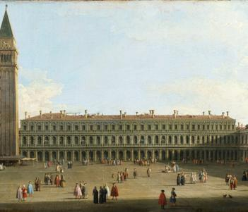 Canaletto (1697-1768), 'Saint Mark's Square, Venice', c.1756. © National Gallery of Ireland.