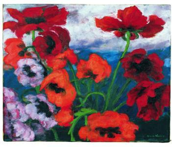 Large Poppies (Red, Red, Red)