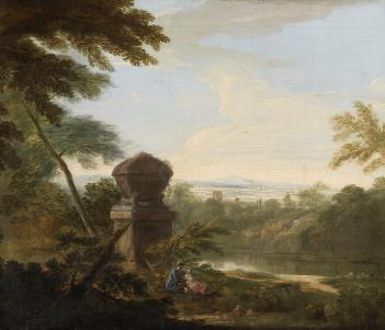 Italianate landscape painting