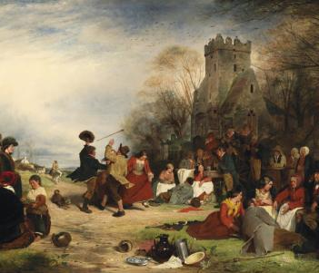 Detail from Erskine Nicol, 'The 16th, 17th (St Patrick's Day), and 18th March', 1856.Photo © National Gallery of Ireland