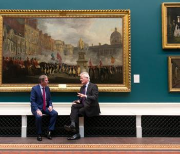 Peter Barrett, CEO, SMBC Aviation Capital, and Sean Rainbird, Director, National Gallery of Ireland. Photo © SON Photographic Ltd Photographer Shane O'Neill