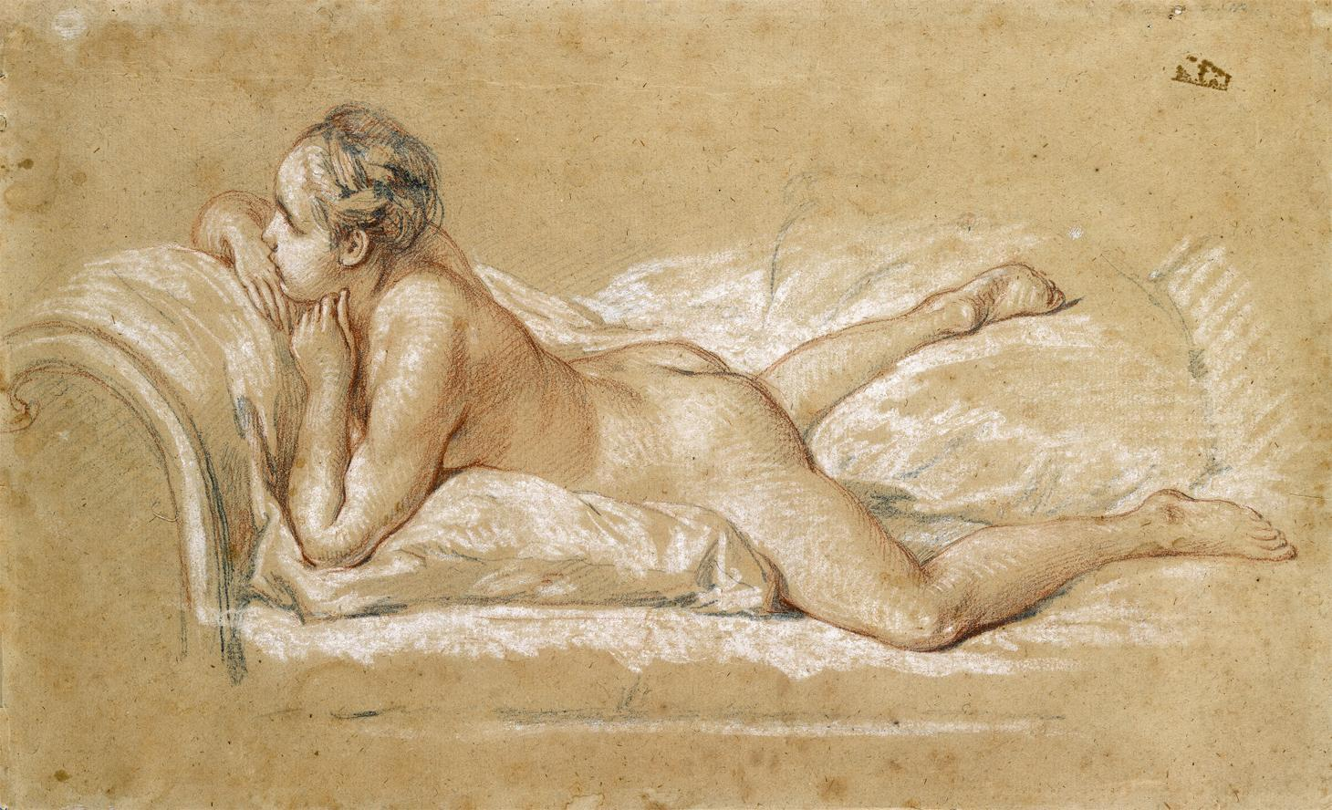 François Boucher (1703-1770), 'A Female Nude Reclining on a Chaise-Longue', c.1752. © National Gallery of Ireland